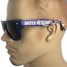 United We Stand Patriotic USA US Flag Sunglasses Navy Blue Mens Retro Glasses