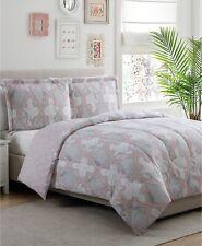 Reversible Comforter Set 3Pc Microfiber Elegant Geometric Pattern Machine Wash