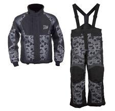 Boys Youth Mossi Snowmobile Jacket & Bibs Combo - Black w/ Mosaic Design