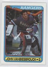1990-91 Topps #75 John Vanbiesbrouck New York Rangers Hockey Card