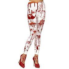 BLUTVERSCHMIERTE LEGGINGS Halloween Damen Blutige Strumpfhose Horror Kostüm 0154