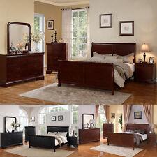 Beds Bedroom Dresser Queen King Bed sets 4 Piece Bedroom Furniture In 3 Colors