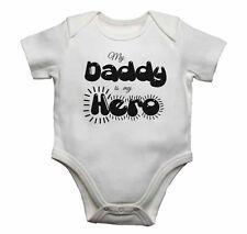 Mi papá es mi héroe-Bebé Chalecos monos bebé crece Estampado Gráfico