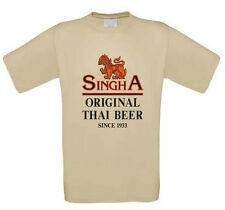 Singha Beer Original Thai Beer 100% pre-shrunk Cotton T-Shirt