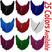 TMS 25 Yard 4 Tier Skirt Jupe Belly Dance Gypsy Danse Orientale Club | 25 Color
