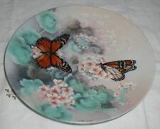 Monarch Butterflies Plate On Gosssamer Wings Series By Lena Liu