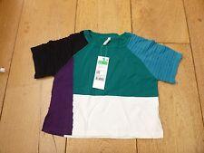 United COLORS OF BENETTON Maniche Corte Colore Blocco Maglia T shirt TOP 1 A 2 Y