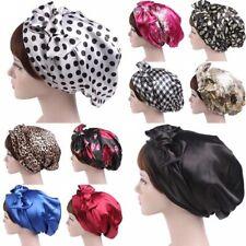 Femmes Foulard Turban Voile SatinBow Pac Sommeil Molle Bonnet Cheveux Envelopper