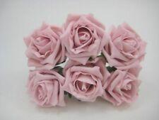 6cm Vintage Pink Colourfast Cottage Foam Roses, Wedding Flowers, Bouquets