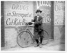 Child Labor Shreveport Drug Store Bicycle Messenger Boy Silver Halide Photo