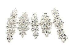 Stunning Wedding Rhinestones Bridal Applique Sew on Motif Craft Diamante Appliqu