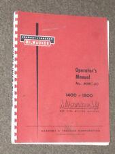 Kearney & Trecker Operator's Manual No. MMC-60