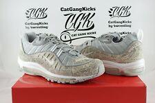 DS Nike Air Max 98 SUPREME White Silver Snakeskin 844694-100 SS16 AM98 Sz 8.5 11
