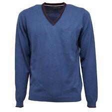 5534K maglione uomo FRED MELLO blue mix cotton/cashmere sweater man