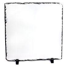 19x19cm Cuadrado Blanco Sublimación Rock pizarra Imprimible Foto Prensa De Calor Regalo SH25