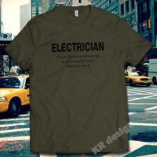 NOUN - ELECTRICIAN Tshirt Funny Joke Rude T shirt Birthday Gift Present Builder
