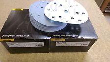 MIRKA BASECUT SANDING PAPER DA DISCS 6inch 150mm HOOK LOOP GRIP ABRASIVE 50 PACK