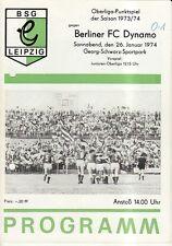 OL 73/74  BSG Chemie Leipzig - BFC Dynamo Berlin
