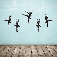 Lot de 5 danseur de ballet / ballerine wall stickers-plusieurs coloris et tailles