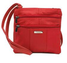 QUALITY REAL LEATHER LADIES WOMENS SMALL SHOULDER BAG CROSS BODY HANDBAG ML3766