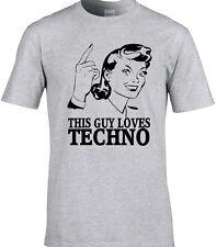 Techno danza para hombre Camiseta Electrónica Rave Disco Fiesta Música Idea de Regalo Divertido