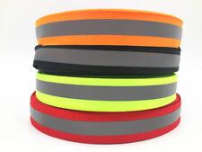 5-100 yards 20MM Reflective Tape Strip Sew-On Fabric Trim Safty Vest 20mm NEW