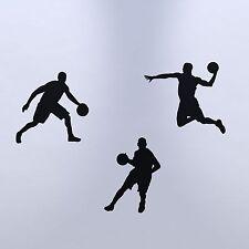 Basket-ball silhouette autocollant mural pack-sports stickers pour chambre à coucher/salle de jeux
