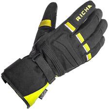 Richa Peak Textile Waterproof Motorcycle Motorbike Gloves - Black / Yellow
