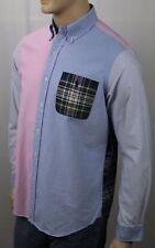 Polo Ralph Lauren Blue Pink Plaid Striped Classic Dress Shirt Pocket NWT