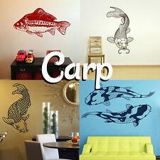 Carpa pared Adhesivo gráfico de transferencia de casa! peces Koi Calcomanía decoración plantilla Estanque Chicos