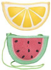 Girls Summer Beach Bag Novelty Shoulder Clutch Bag Lemon Watermelon Fruit Womens