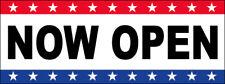 Now Open Vinyl Banner Sign 2, 3, 4, 6, 8, 10, 12, 20 Ft Usa wb