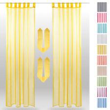 Tête de rideau Jeu de 2 Pack transparent voile Gardine à suspendre