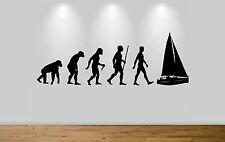 Sailing Evolution Wall Sticker Decal Bedroom Wall Art Sailor Evolution