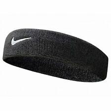 Nike SWOOSH HEADBAND BLACK/WHITE Sports Unisex Sweatband