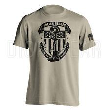 Fallen Heroes Soldier Cross Army Military Patriotic American Shirt S M L XL 2XL