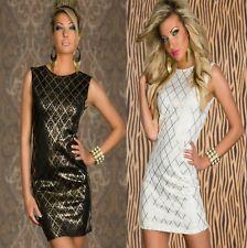 Sz 8 10 12 Sleeveless Bodycon Party Prom Club Cocktail Slim Formal Mini Dress