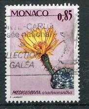 MONACO - 1974, timbre 1000, FLEURS, CACTUS, oblitéré