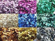7 mm Taza Suelto Lentejuelas * 10 Colores * Paquetes - 10g-Plata Roja Craft Tarjeta Making
