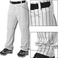 da06baa78e4 Alleson Youth Boys Relaxed Fit Open Bottom Pinstripe Baseball Pants 605WPNY