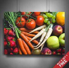 VEGETABLE PHOTOGRAPHY POSTER A3 A4 * Healthy Food Veggie Kitchen Restaurant Art