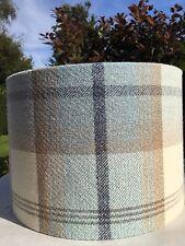 Porter & Stone Balmoral Tartán Cuadros Efecto de lana azul cielo pantalla () hecho a mano