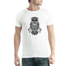 Owl Tattoo Mens T-shirt XS-5XL