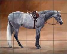 Tile Mural Backsplash Crawford Ceramic Hunter Horse  Art JCA007