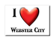 SOUVENIR USA - IOWA FRIDGE MAGNET I LOVE WEBSTER CITY (HAMILTON COUNTY)