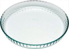 Pyrex Tarte/Quiche Dish 27 cm ou 24 cm verre cannelée, haute qualité