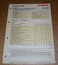 Inspektionsblatt Yamaha XJ 600 N Typ RJ018 (25 KW) Baujahr 1998