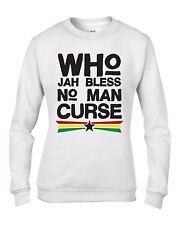 Who Jah Bless Reggae Women's Sweatshirt Jumper - Rasta Bob Marley