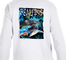 Real Fins Long Sleeve Shark Marlin Mahi Dolphin Sailfish Turtle Fishing T-Shirt