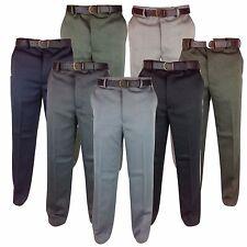 Homme fantastique qualité cavalry twill chaude épaisse pantalon jambe 32-56 27 29 31 pantalon